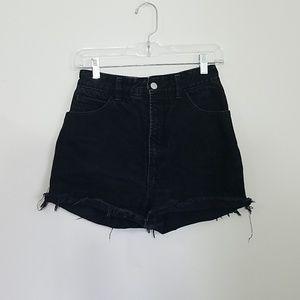 BONGO High waisted shorts size 7 black denim